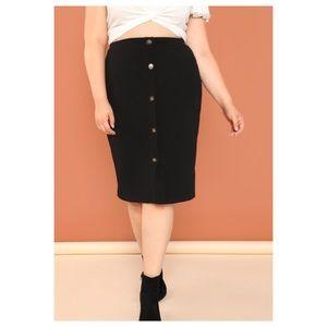 Dresses & Skirts - ➕Button Front Pencil Skirt